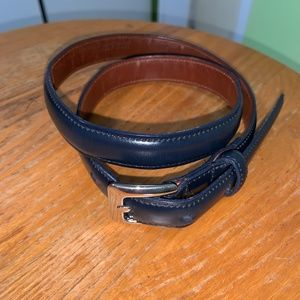 COACH THIN BELT NAVY BLUE 9524 SMALL 28 fits 26-30